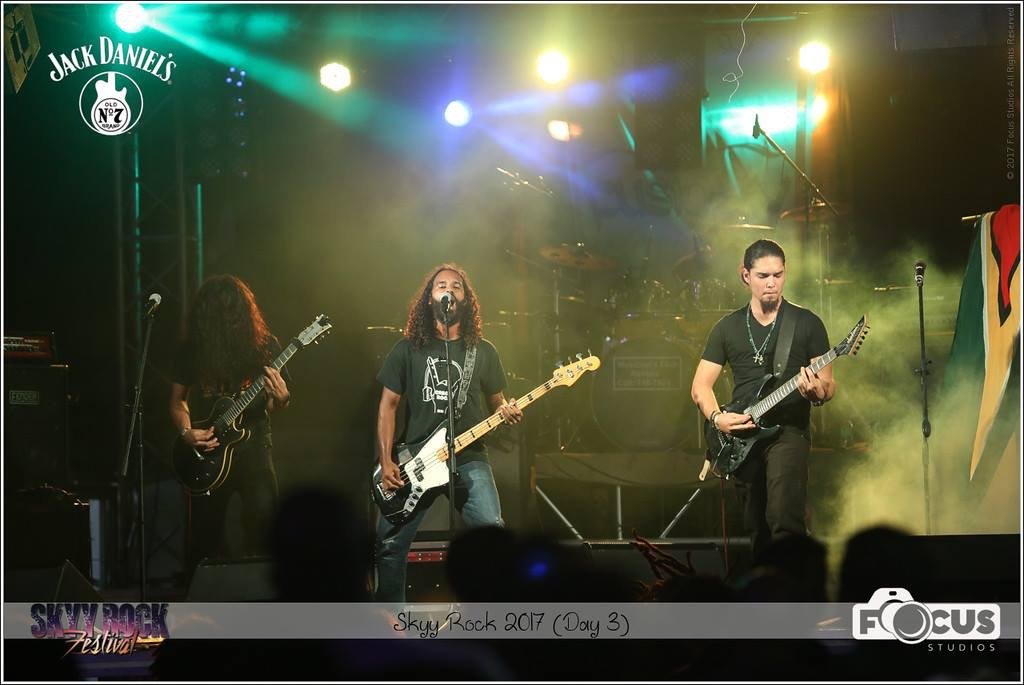 Performing with Feed The Flames at Skyy Rock Festival, Trinidad 2017